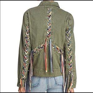 Cutest BLANKNYC  Army Green Jacket Fringe New sz M